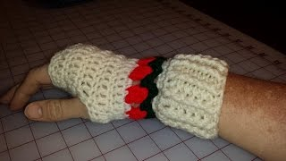 Tulip Fingerless Mitts Part 4