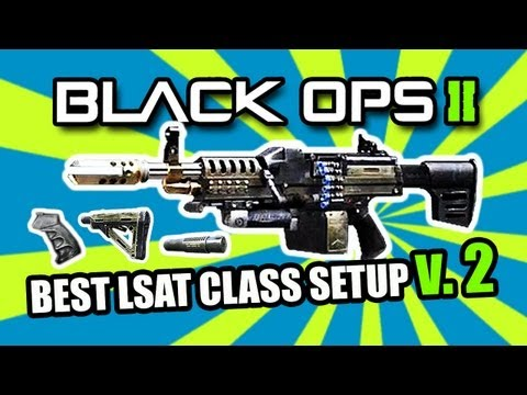 Black Ops 2: BEST LIGHT MACHINE GUN LMG CLASS   LSAT (v.2) (BO2 Multiplayer Gameplay)