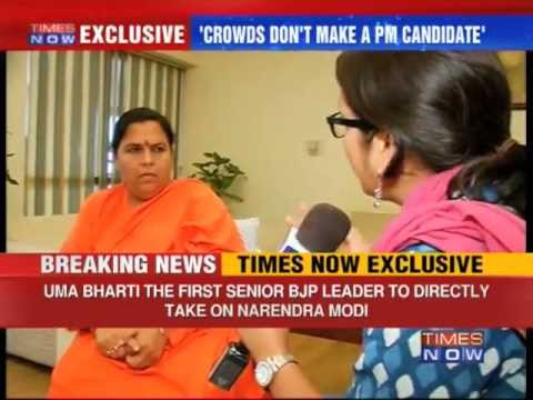 BJP's Uma Bharti takes on Narendra Modi