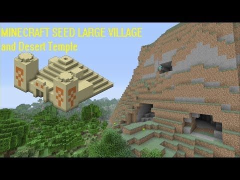 Minecraft seed Xbox 360/PS3 (TU16) #12 large village and desert temple with 50+ diamonds