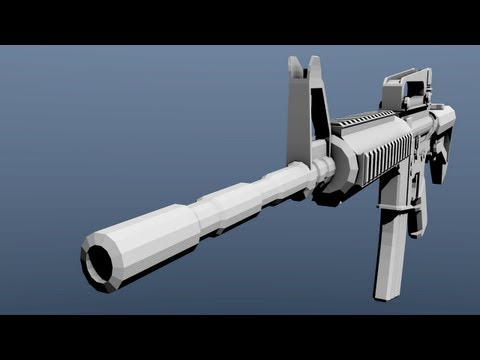 [DLG] [ Blender 3D ] Speed Modelling of M4A1
