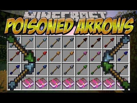 Poisoned Arrows MOD (Fechas con efectos de las pociones) Review Español Minecraft 1.7.10