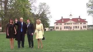 Trumps Host Macrons for Dinner at Mount Vernon