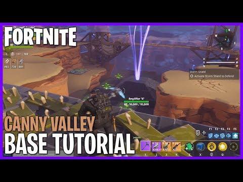 FORTNITE! Base Building Tutorial - Canny Valley! #Fortnite