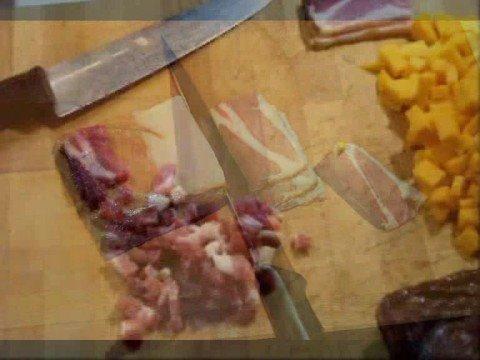 Le Ricette Dello Spilu: Mezze Penne con Zucca Porri e Speck