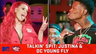 Justina Valentine & DC Young Fly Can't Hold Water 💦 Wild N' Out | #TalkinSpit