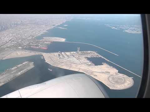 DXB HD Qatar Airways 777-300ER Take-Off Dubai International Airport Boeing UAE
