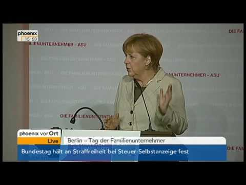 Angela Merkel (CDU) beim Tag der Familienunternehmer - VOR ORT vom 26.04.2013