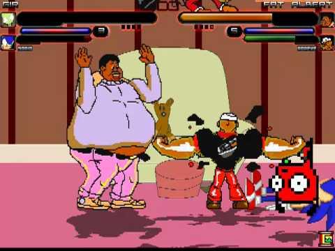 Fat Mario vs Fat Sonic Gir/sonic vs Fat Albert/
