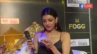 Kajal Agarwal At Zee Golden Awards 2017  She has h