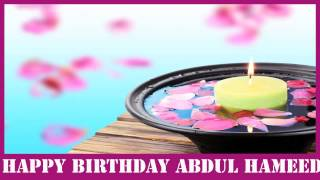 Abdul Hameed   Birthday Spa