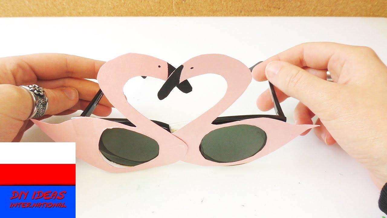 Zabawne okulary słoneczne z flamingami | różowe okulary na poprawę nastroju