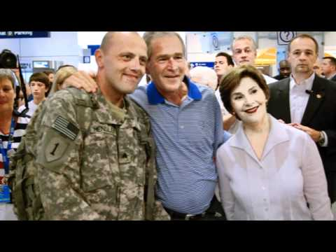 President George W Bush Greeting Troops at DFW Video