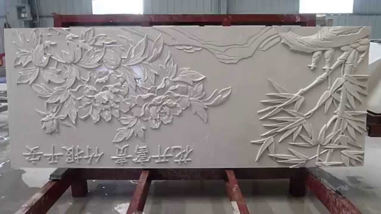 Natural Marble 3d Cnc Wall Design Panels Youtube