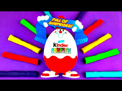 Kinder Play-doh Surprise Eggs Disney Frozen Cars 2 Toy Story Mickey Mouse Clubhouse Batman Fluffyjet video