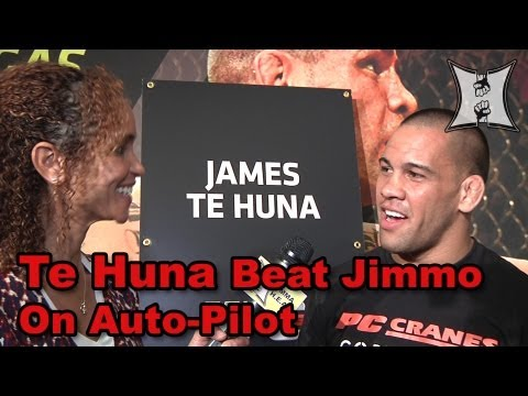 UFC 160s James Te Huna Talks Teixeira Bout Jimmo Comeback  Men In Black Walkout