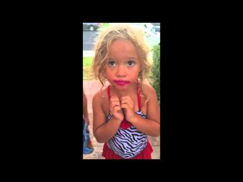 Little girl lies about getting into the lipstick.