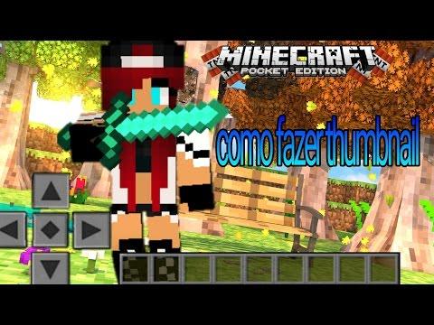 Tutorial: como fazer thumbnail de minecraft pelo celular