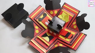 How to make Explosion box / DIY Valentine's Day Explosion Box /Explosion Box Tutorial /Mickey mouse