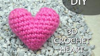 CROCHET PATTERN: 3D or PUFFY CROCHET HEART | Patrones Valhalla ENG