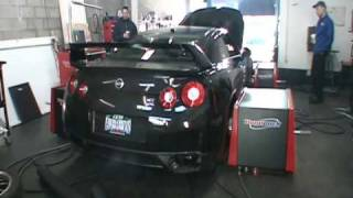 T1R 90R Cat-Back Exhaust, Y-Pipe, Turbo Outlet Pipes for Nissan GTR R35 Dyno