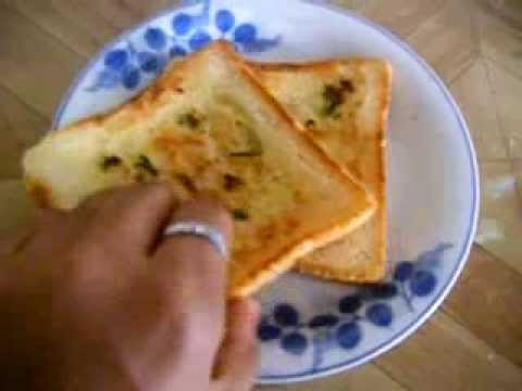 Garlic bread toast [Healthy breakfast recipe] - YouTube