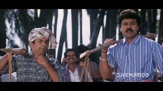 Ramya Krishna & Rambha Bathing in the Lake | Alluda Majaka Telugu Movie Scenes | Brahmanandam