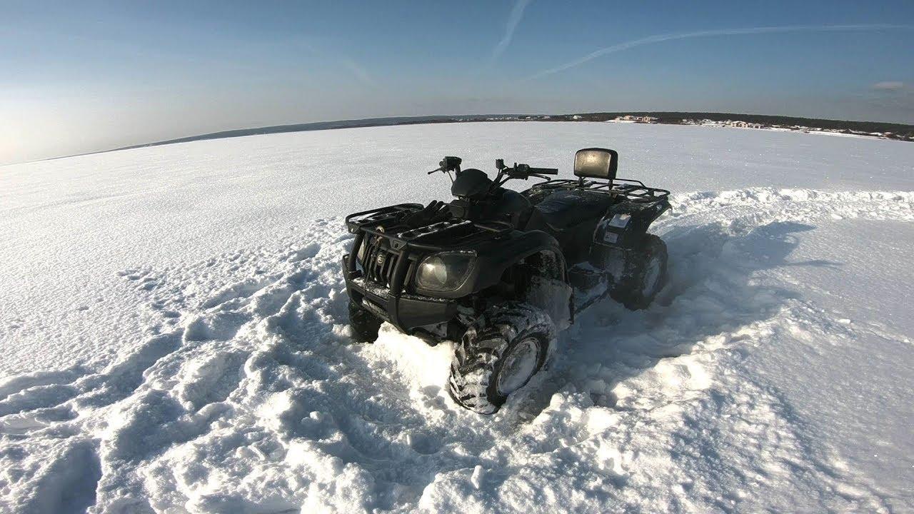 ATV POV SNOW TEST DRIVE PART 1