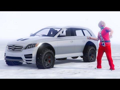 GTA 5 ONLINE SNOW & NEW BENEFACTOR STREITER DLC CAR GAMEPLAY! (GTA 5 Update)