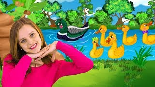 Five little ducks song for children on HeyHop Kids