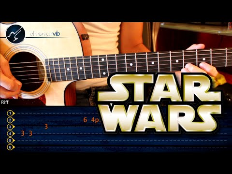 Como tocar STAR WARS en guitarra Acustica PRINCIPIANTES (HD) Tutorial PUNTEO