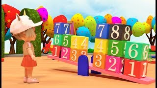 Learn Number and Colors For Children - Go Kids TV With Hello Kitty And Race Car