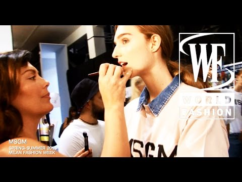 Backstage MSGN Spring-Summer 2015 Milan Fashion Week