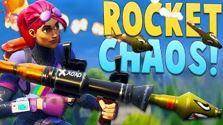 ROCKET CHAOS!! (Fortnite Funny Moments)