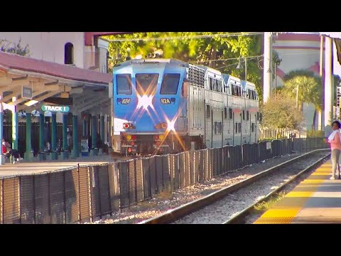 Railfanning West Palm Beach Station with amtrak florida 1-16-16