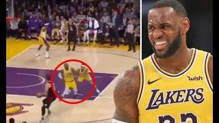 LeBron James Literally PUSHED by Kyle Kuzma to Play Defense! Lakers vs Clippers!