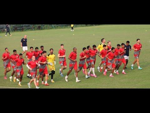 Atletico de Kolkata practice at Mohun Bagan Ground ahead of ISL