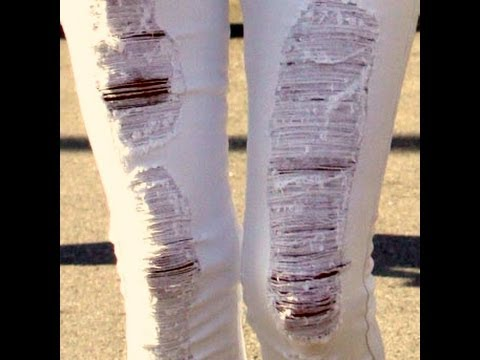 How to make ripped jeans at home by your self