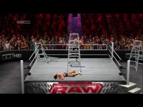 WWE Extreme Rules 2011 (WWEPG) Christian vs Chris Jericho Ladder match part 3
