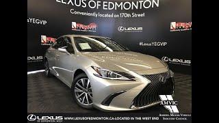 Tan 2019 Lexus ES 300H Premium Package Review - Downtown Edmonton, AB