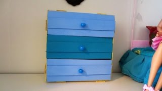 DIY Mini 3 Drawer Dresser Using Popsicle Sticks