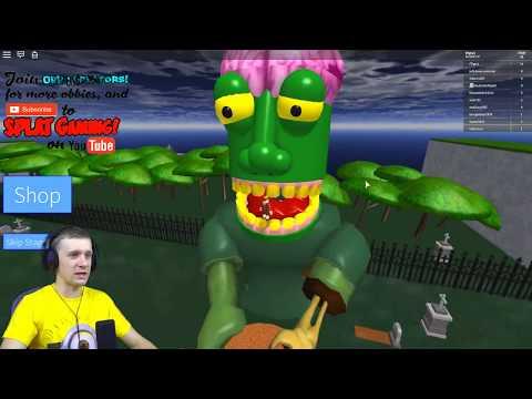 Побег от Зомби в ROBLOX Зомби съел меня Приключения мульт героя как майнкрафт игры от FFGTV