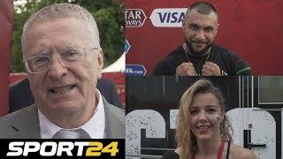 Жириновский, Doni и Юлианна Караулова на футболе | Sport24