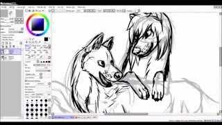 speedpaint anime wolves - Wheres Your Heart?