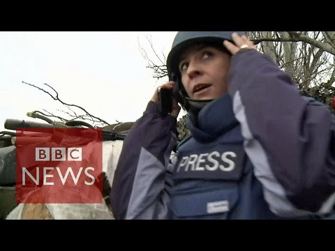 Ukraine: On the frontline of the supposed ceasefire - BBC News