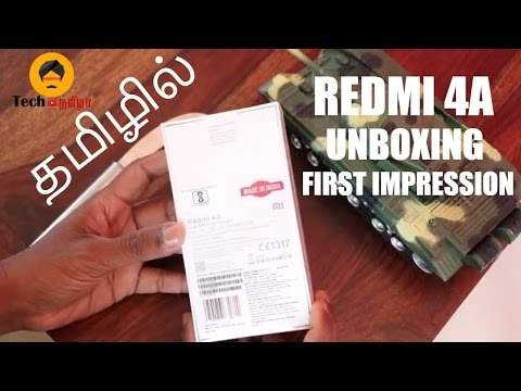 Redmi 4A Unboxing And First Impression In Tamil | Tech Tamizha