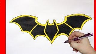 Бэтмен знак как рисовать
