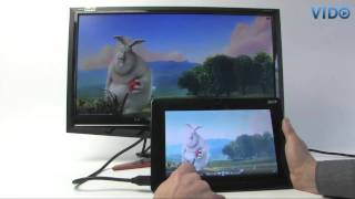 Video review Acer Iconia Tab W500, sample