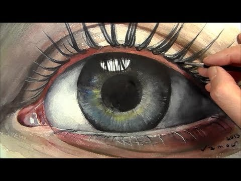 Soul, Painting Eye in Watercolour, Time Lapse