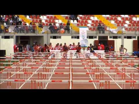 Juegos Bolivarianos Trujillo 2013 Carrera de 110 metros con vallas Jorge Mc Farlane.